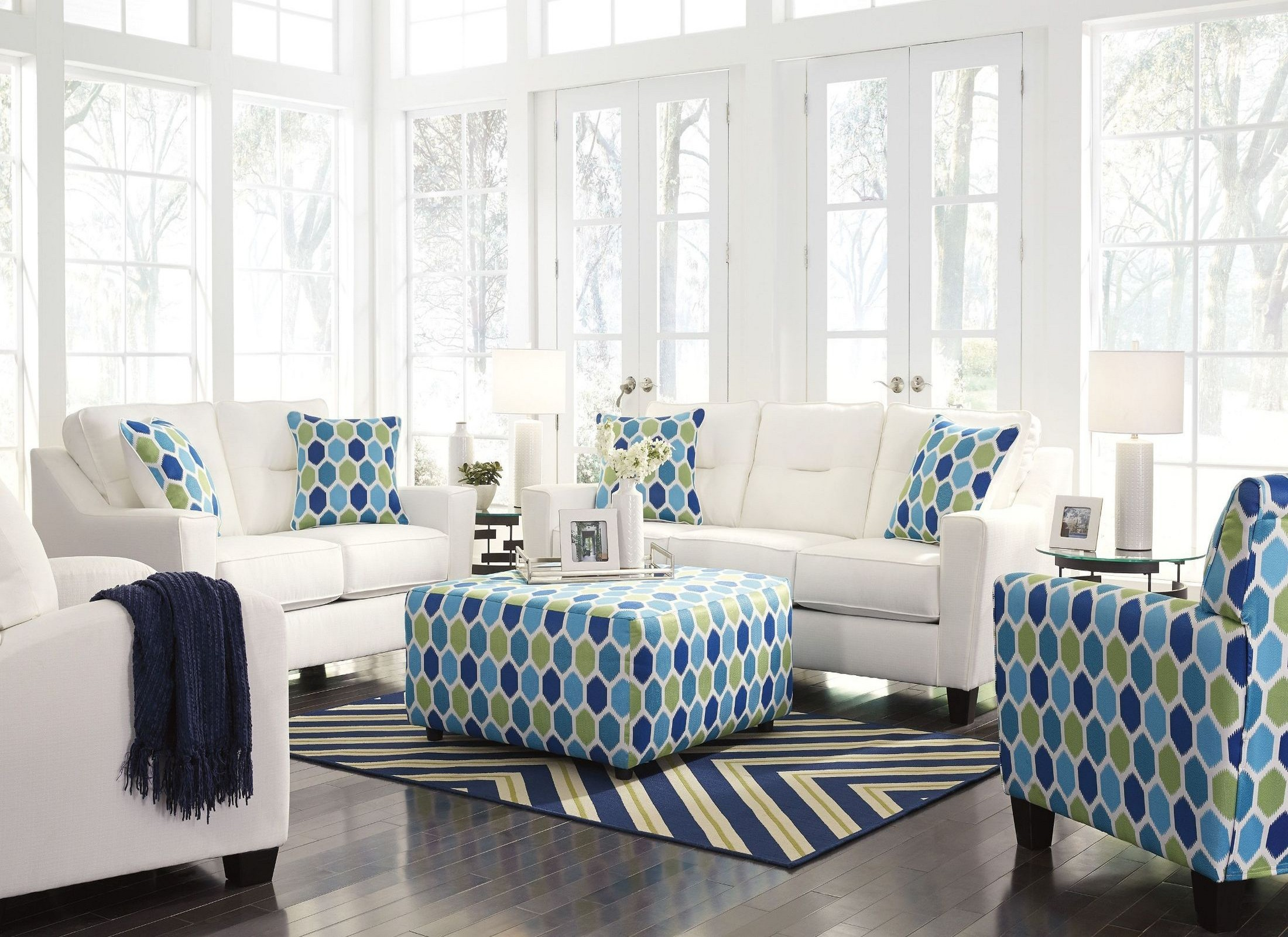 Forsan nuvella white living room set from ashley coleman for White living room set