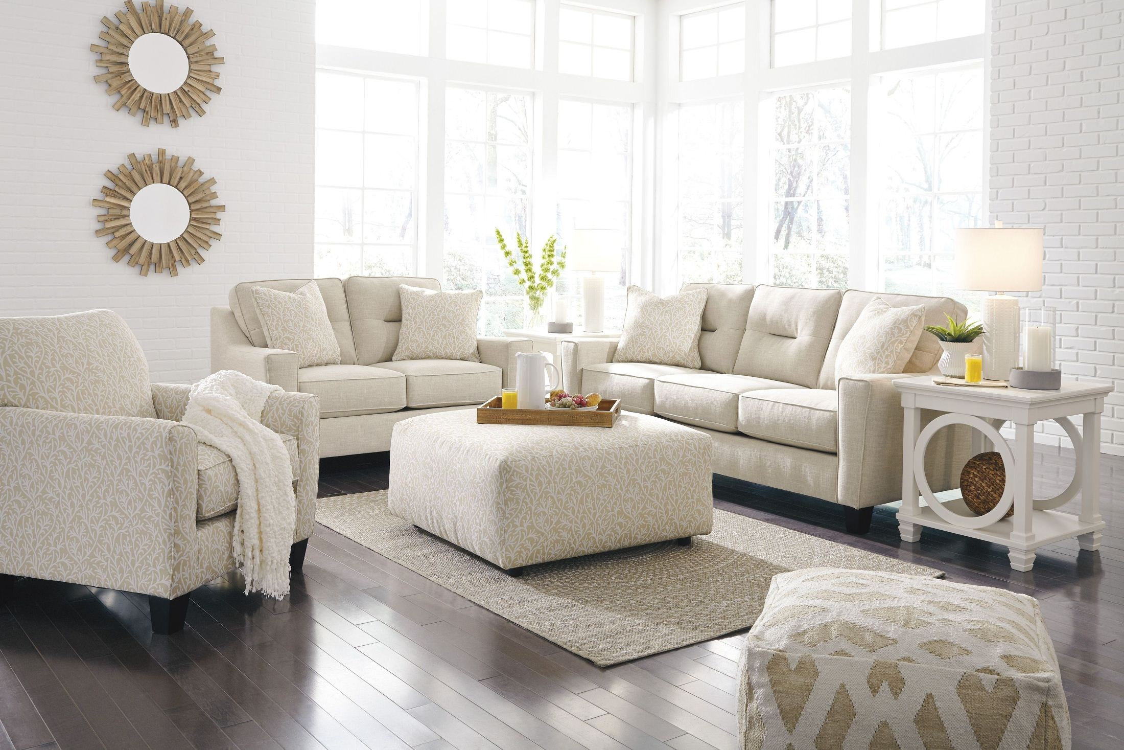Forsan Nuvella Sand Living Room Set from Ashley | Coleman Furniture