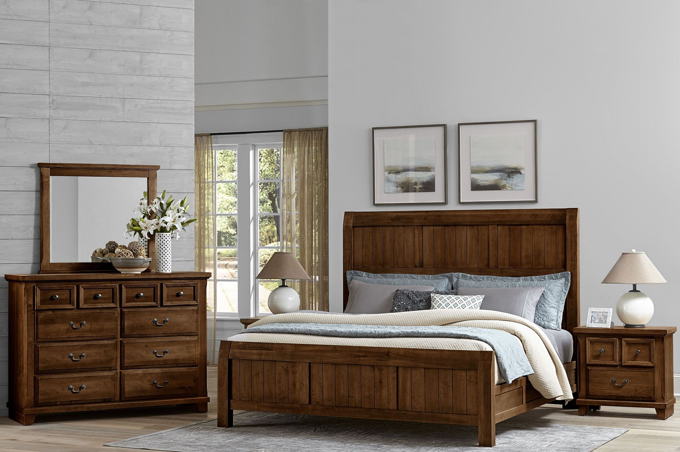 Timber Creek Rustic Cherry Timber Panel Bedroom Set From Virginia House Coleman Furniture
