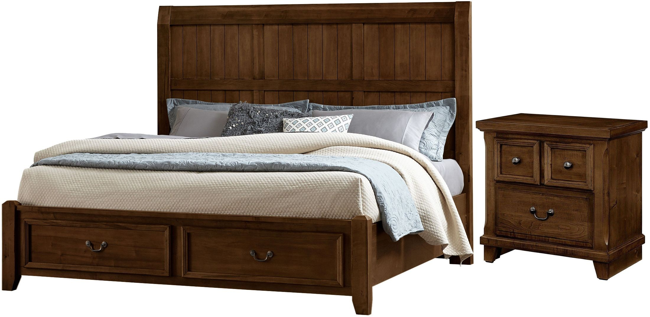 Timber Creek Rustic Cherry 2 Drawer Nightstand From Virginia House Coleman Furniture