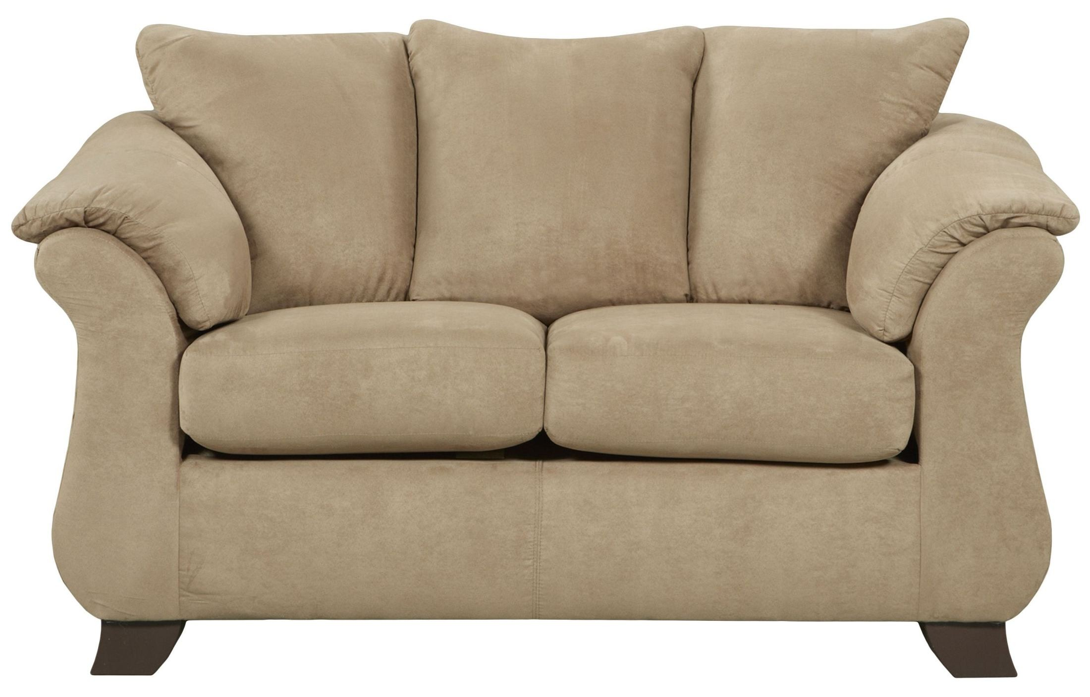 Exceptional Designs Sensations Camel Microfiber Loveseat From Renegade Coleman Furniture
