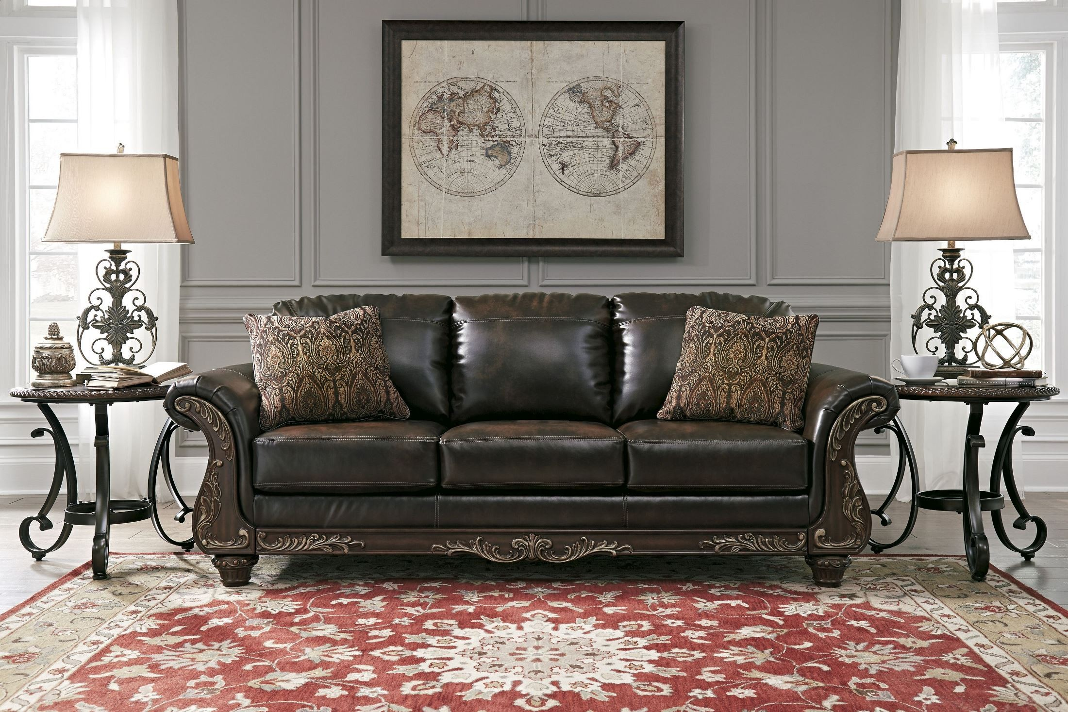 Vanceton Brown Sofa From Ashley 6740238 Coleman Furniture