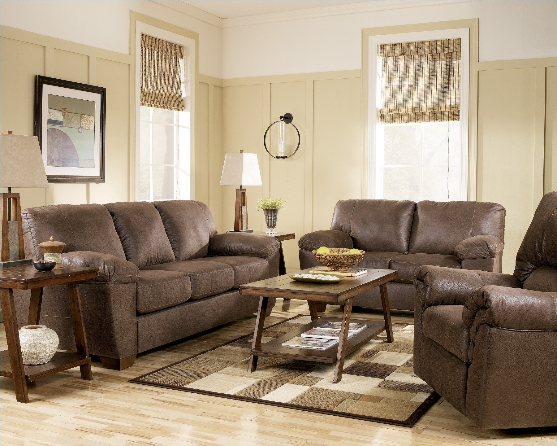 Amazon Walnut Living Room Set from Ashley