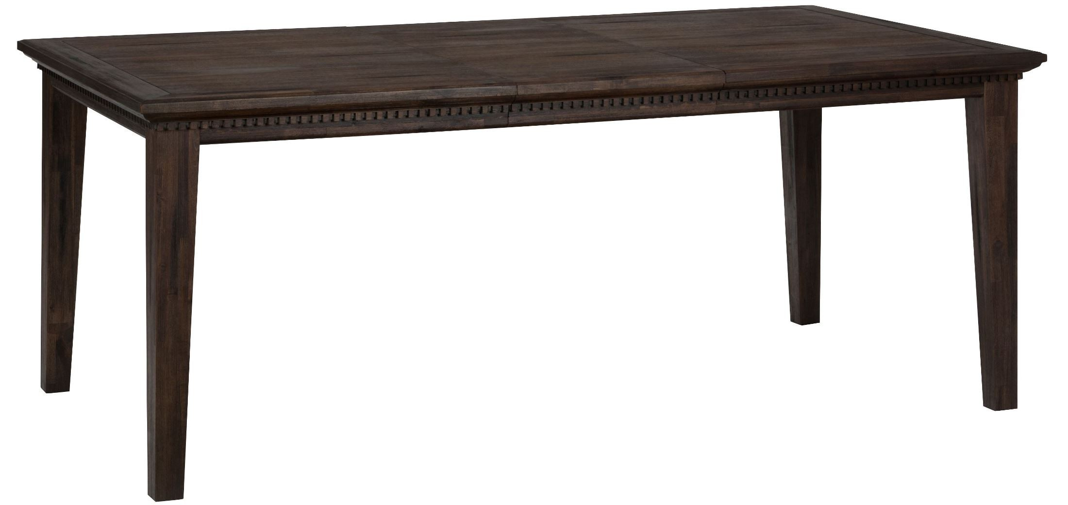 Geneva hills rustic brown extendable rectangular dining