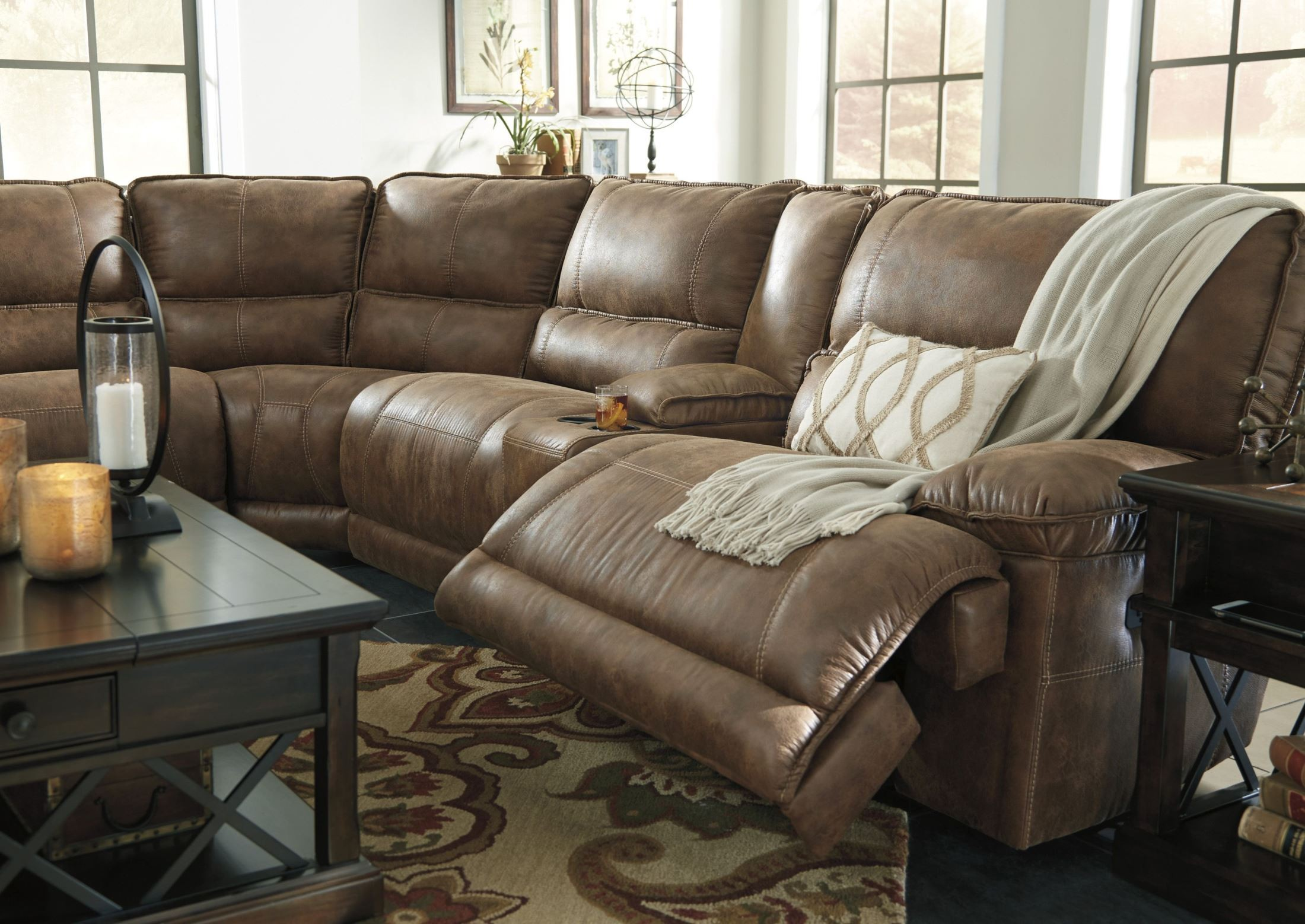 grattis mail Grattis Saddle Power Reclining Sectional from Ashley | Coleman  grattis mail