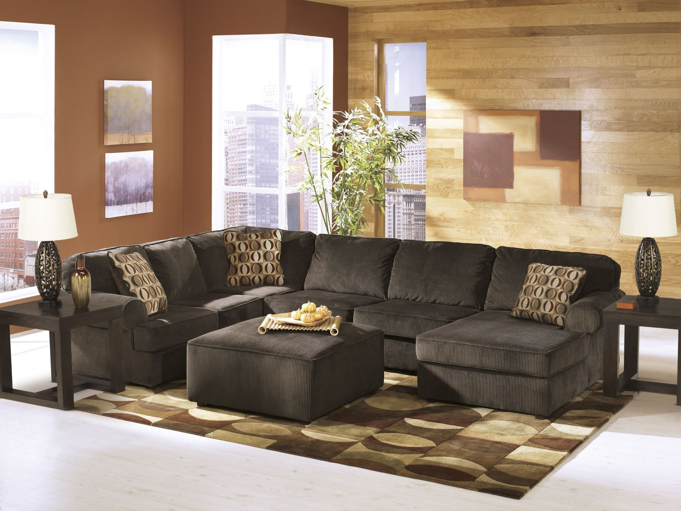 Vista Chocolate RAF Sectional From Ashley 6840417