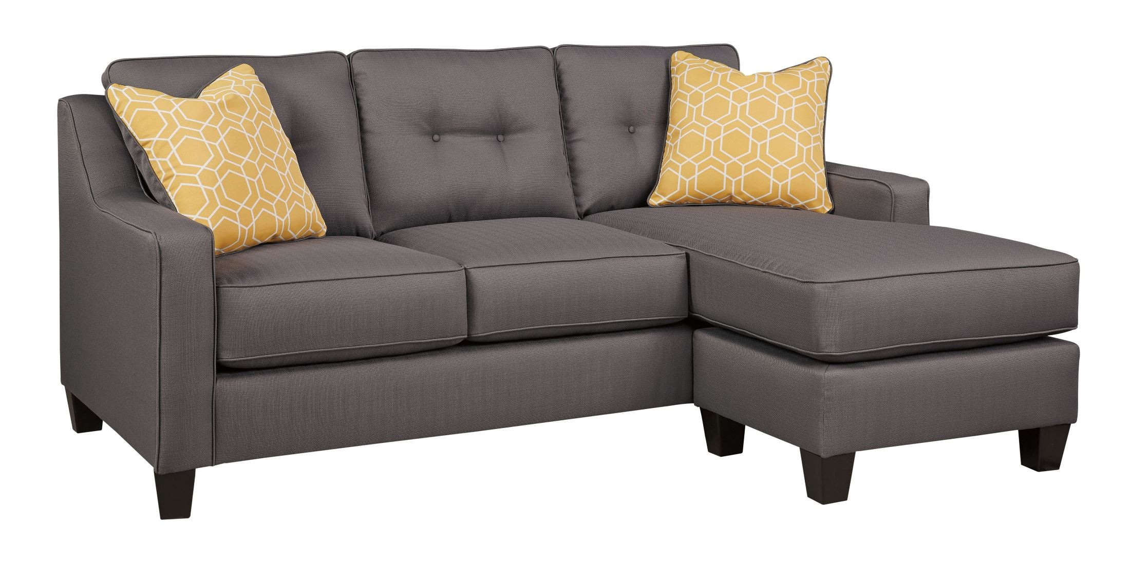 Aldie Nuvella Gray Sofa Chaise  sc 1 st  Coleman Furniture : grey sofa with chaise - Sectionals, Sofas & Couches