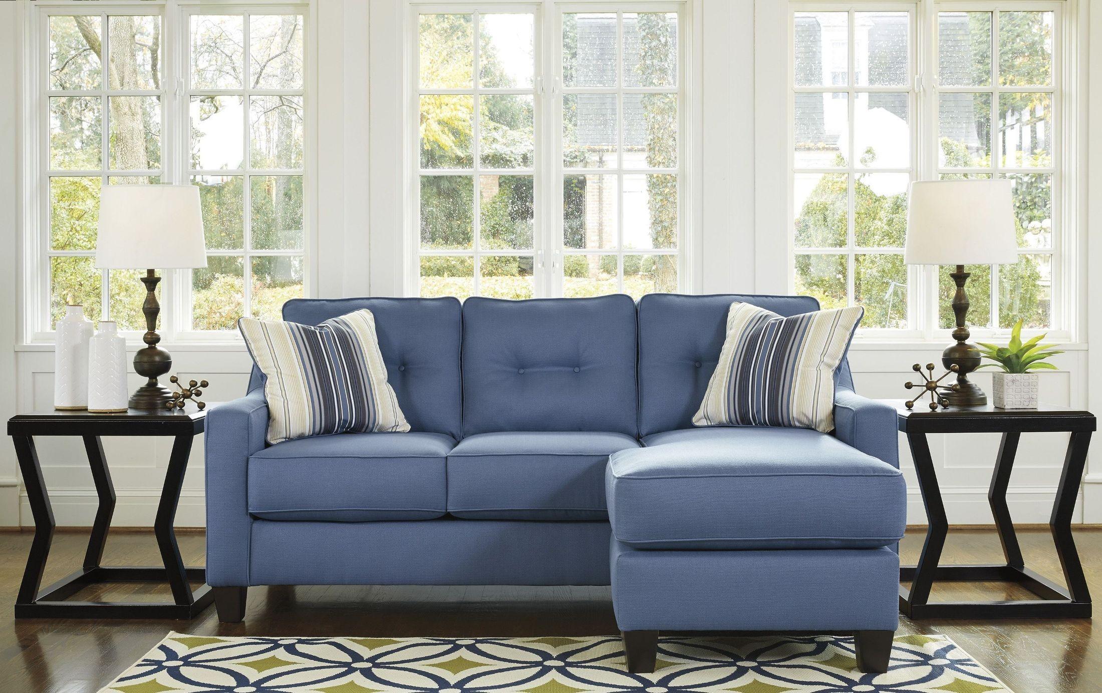 Aldie Nuvella Blue Living Room Set, 6870318, Ashley