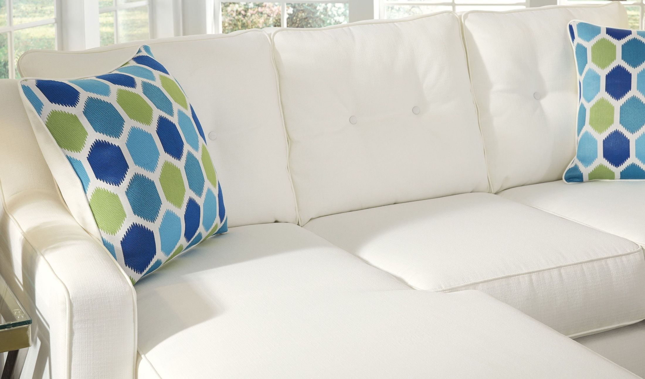 Aldie Nuvella White Sofa Chaise From Ashley Coleman