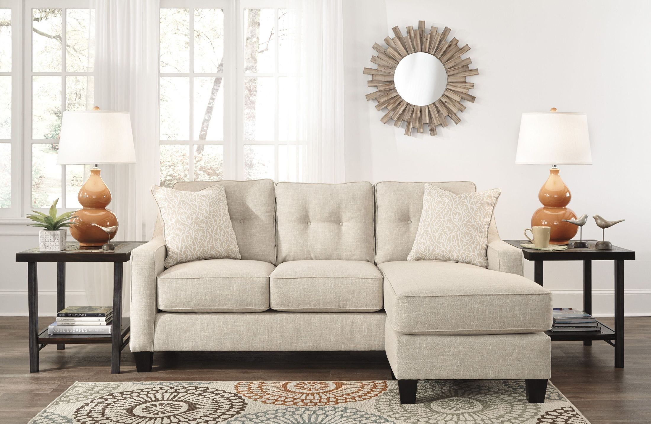 Al Nuvella Sand Sofa Chaise from Ashley