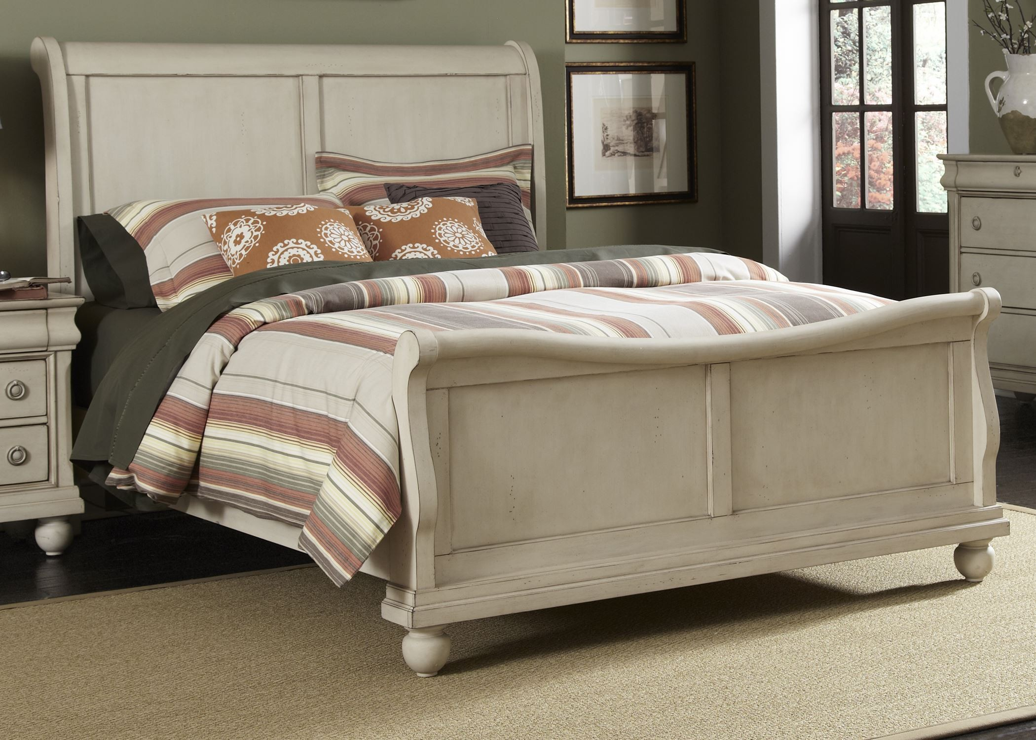 Rustic Traditions II King Sleigh Bed from Liberty (689-BR-KSL) : Coleman Furniture