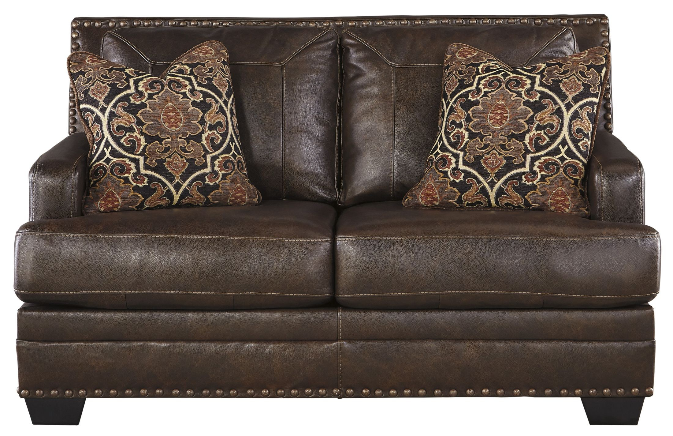 Corvan Antique Loveseat From Ashley 6910335 Coleman Furniture