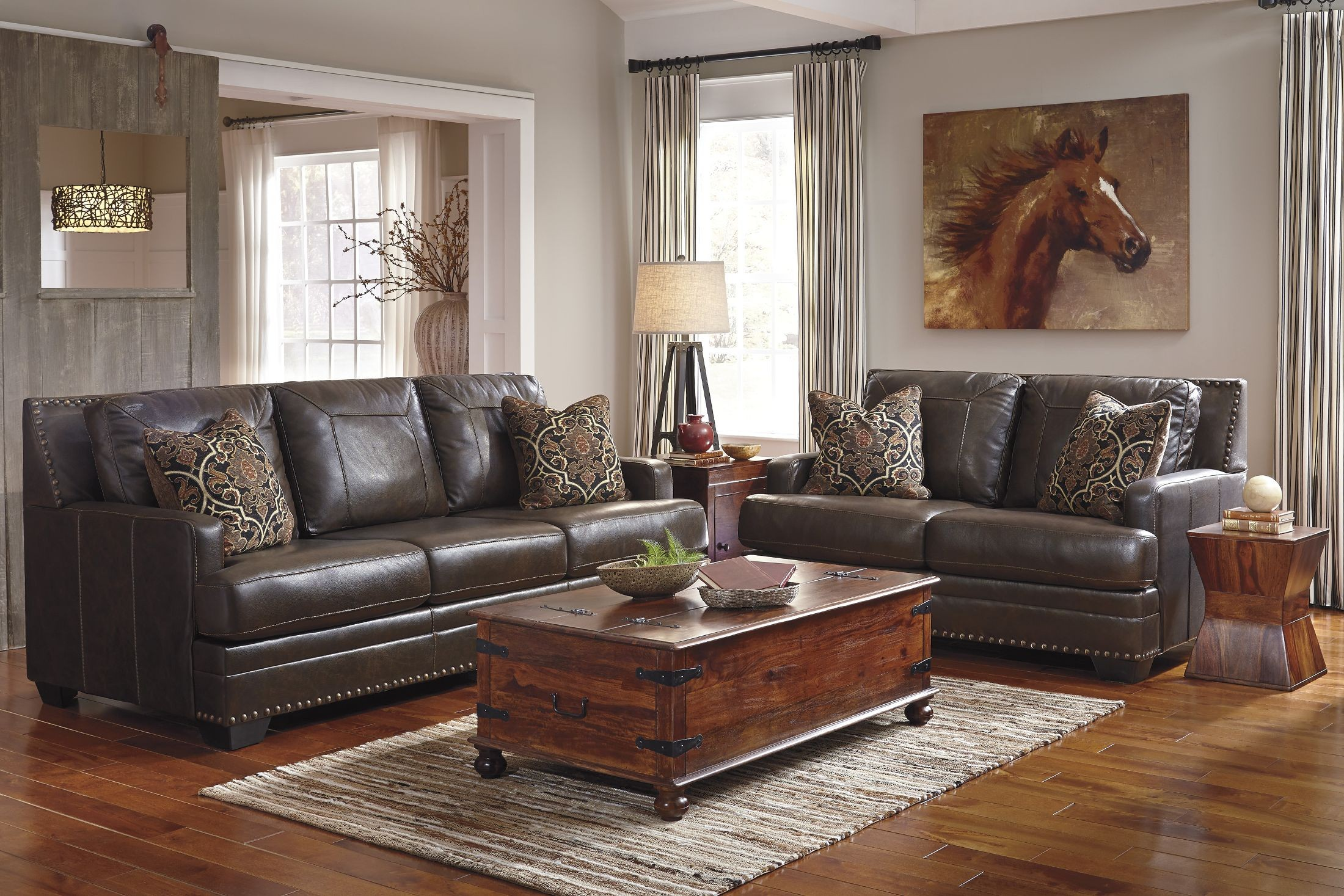 Corvan Antique Queen Sofa Sleeper From Ashley (6910339) | Coleman Furniture