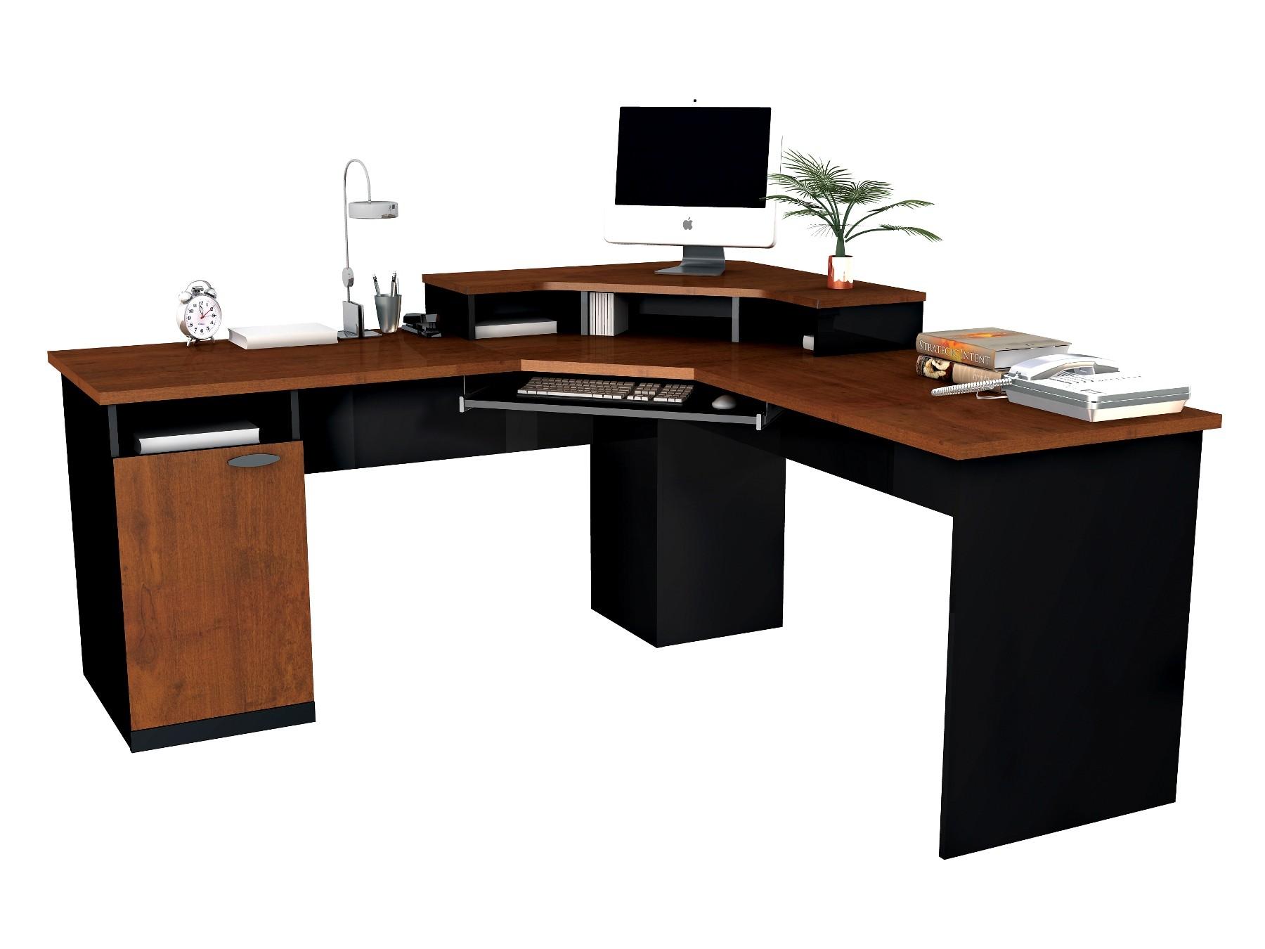 Hampton Corner Workstation In Tuscany Brown Amp Black From