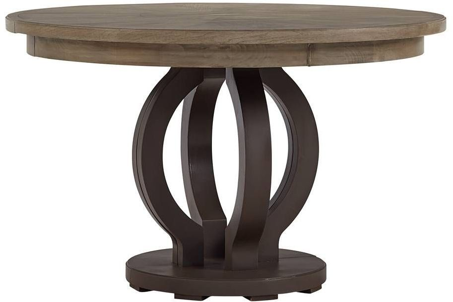 Virage Basalt Round Extendable Dining Table From Stanley Coleman