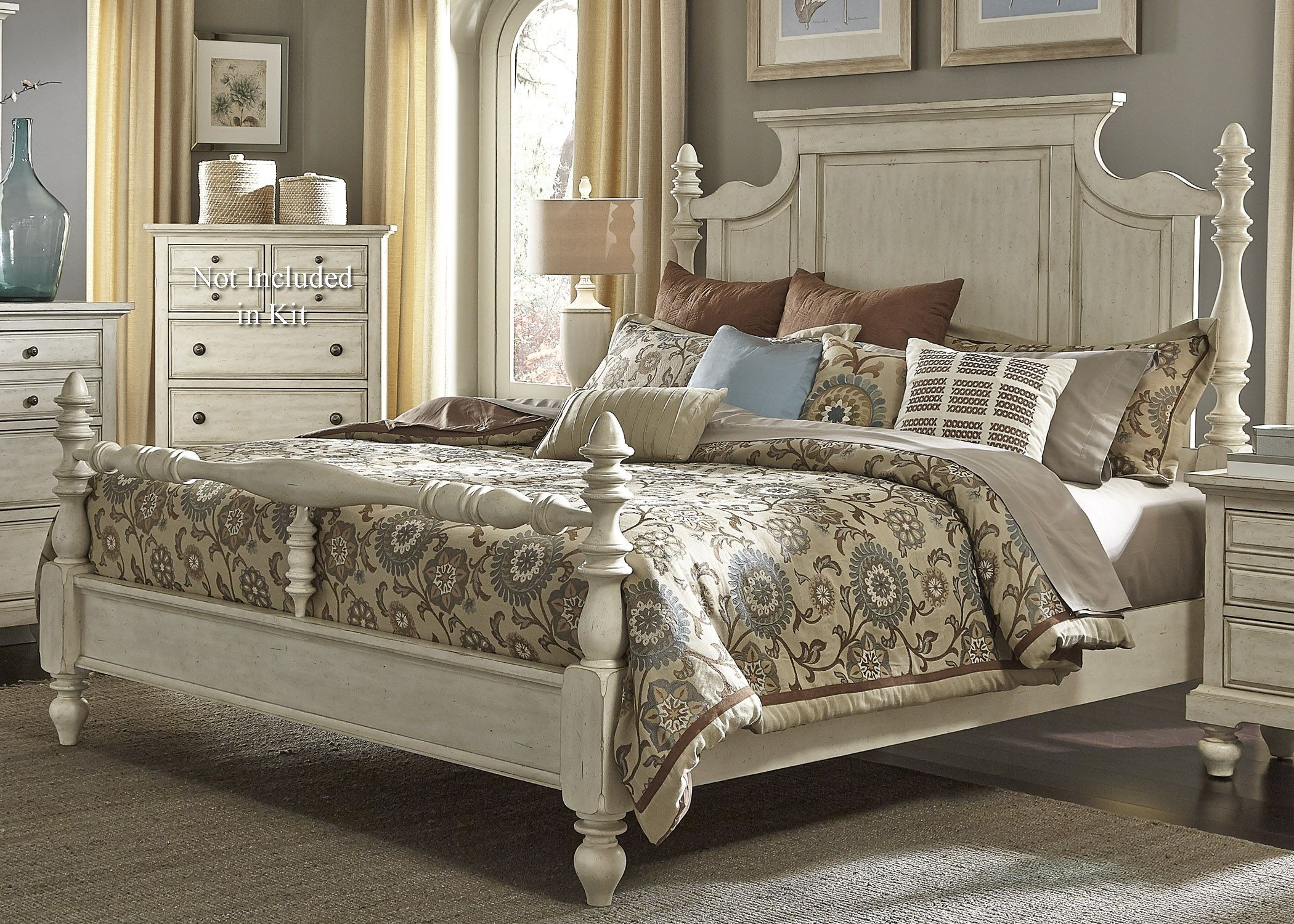 king poster bedroom sets. 774282 High Country White Poster Bedroom Set from Liberty  697 BR QPS