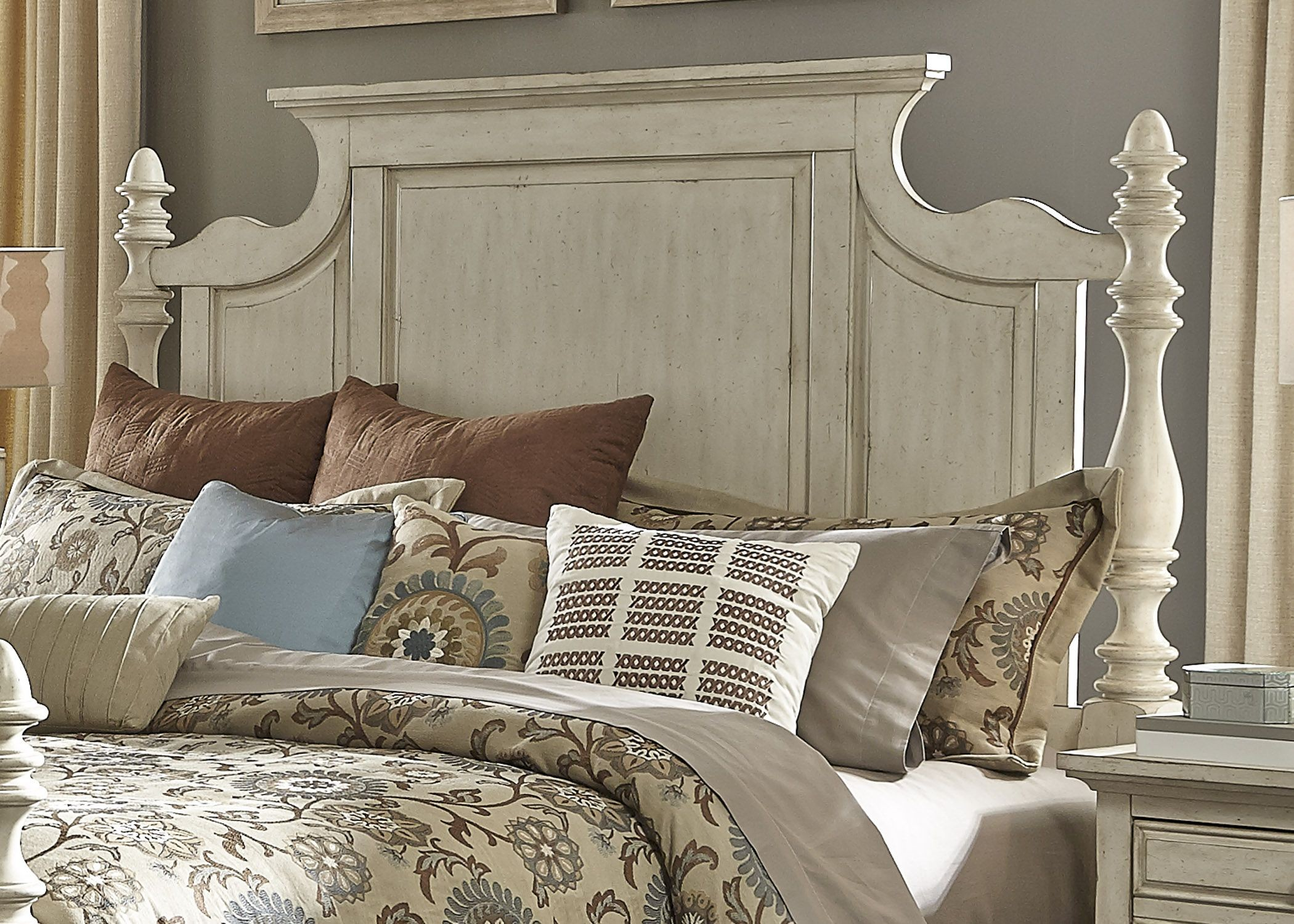 high country white poster bedroom set from liberty 697 br qps 774281