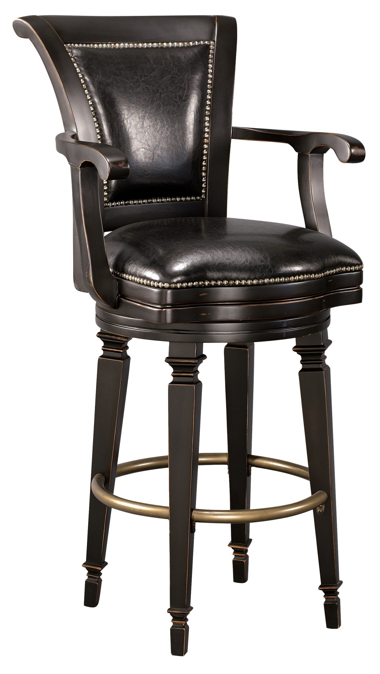 northport bar stool from howard miller 697009 coleman. Black Bedroom Furniture Sets. Home Design Ideas