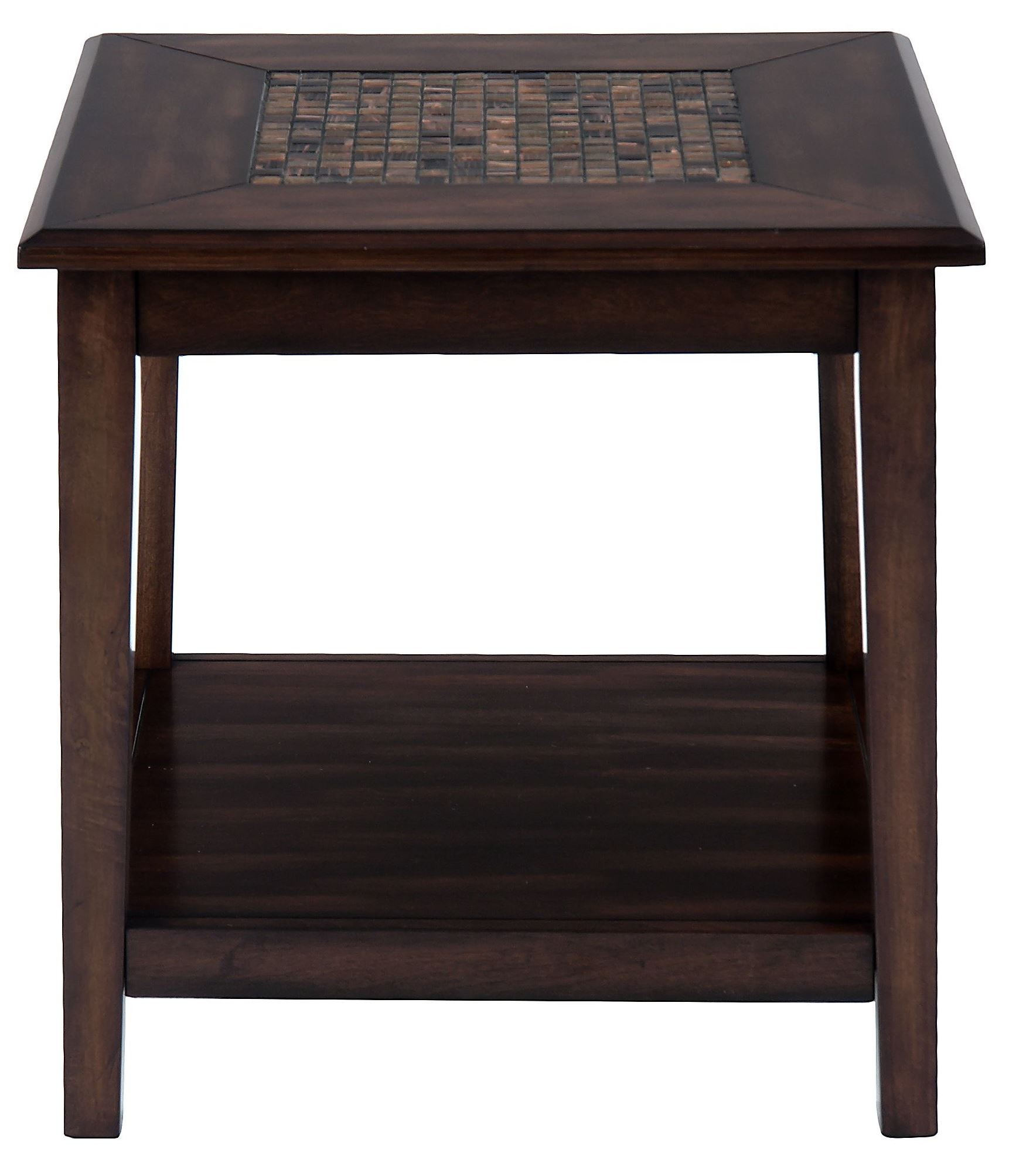 Baroque Brown Mosaic Tile Inlay End Table From Jofran