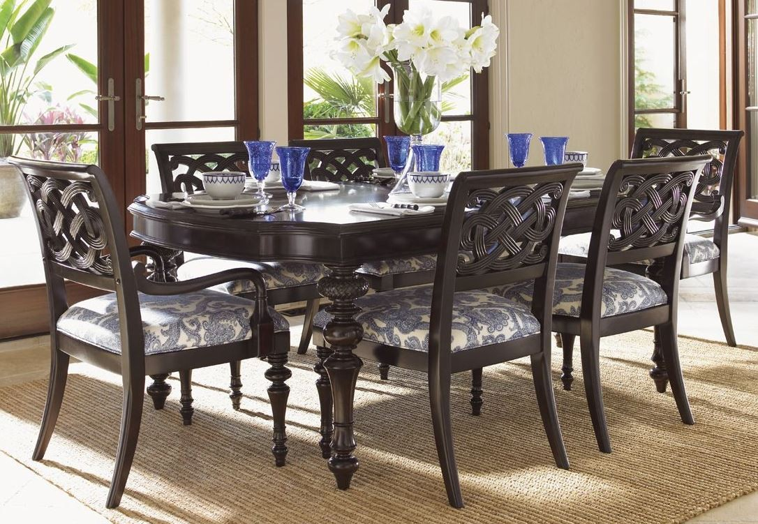 Royal kahala islands edge rectangular dining room set from tommy bahama 01 0537 877 coleman - Islands dining room ...