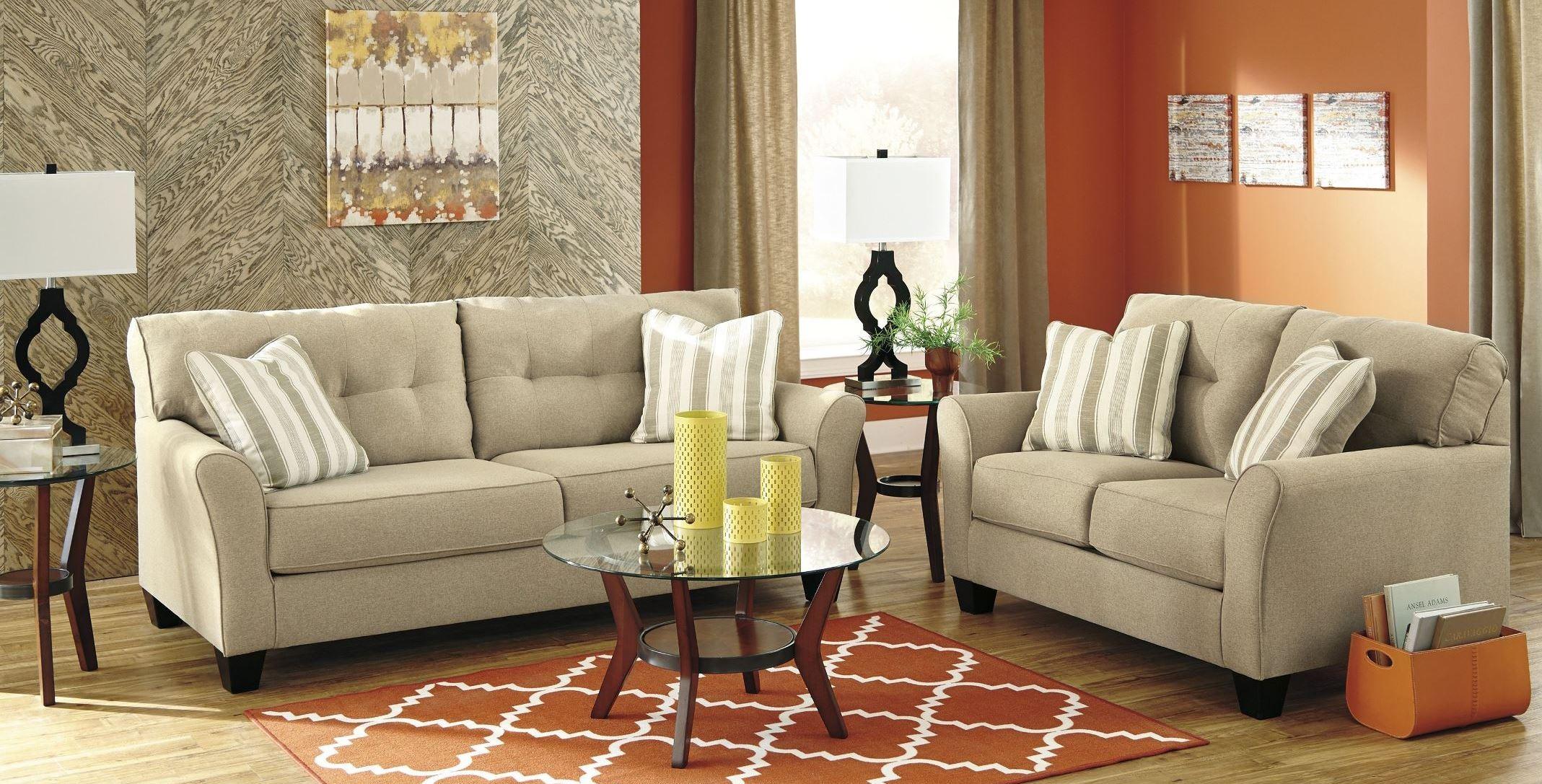 laryn khaki living room set from ashley 5190238