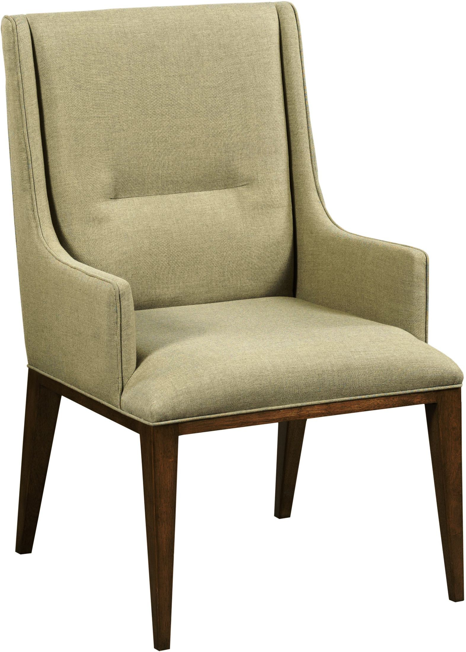 Ad modern synergy cream contour arm chair set of 2 from for Modern arm chair