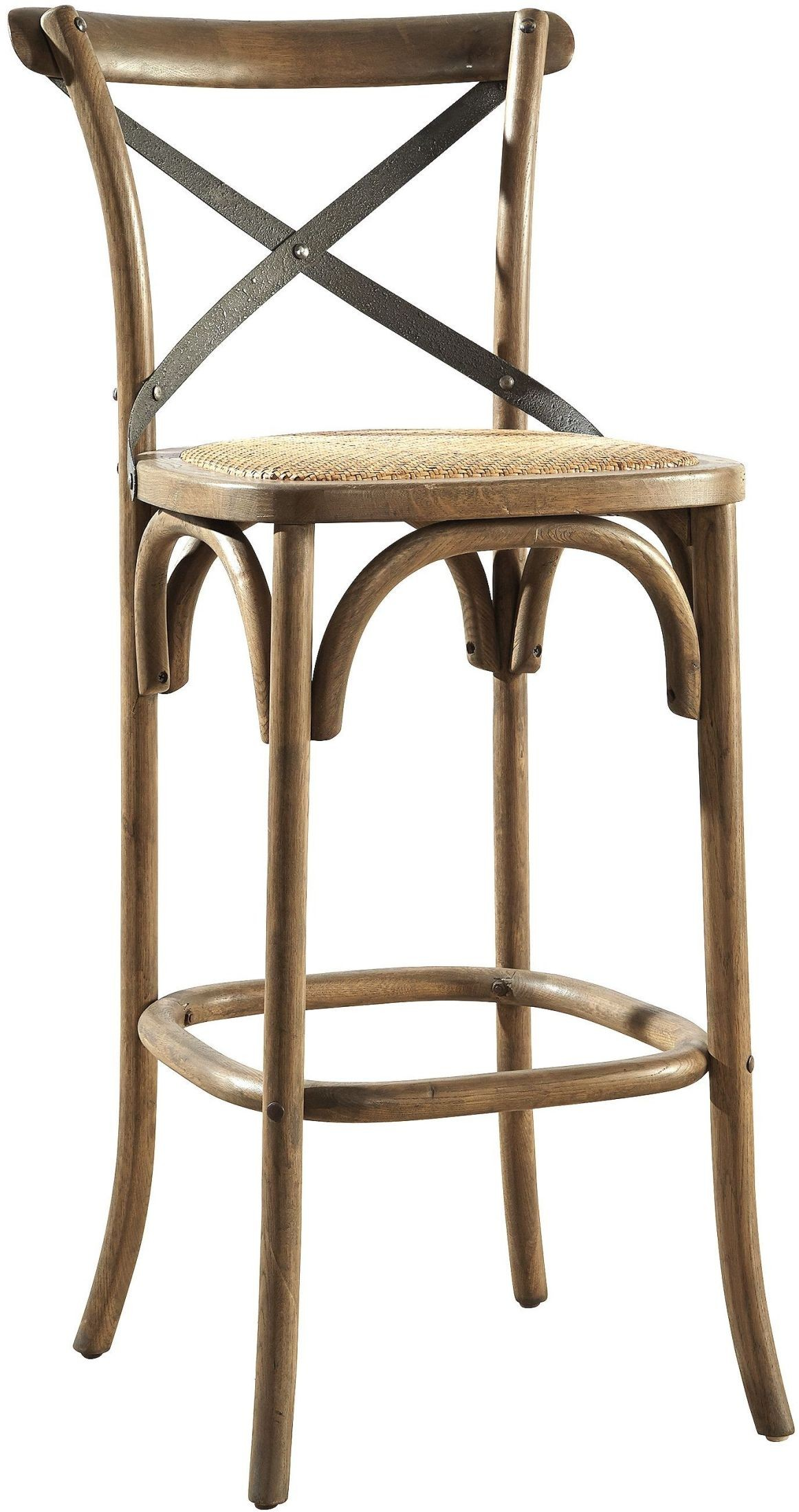 Bentwood Steam Bent Metal Back Bar Stool Set Of 2 From