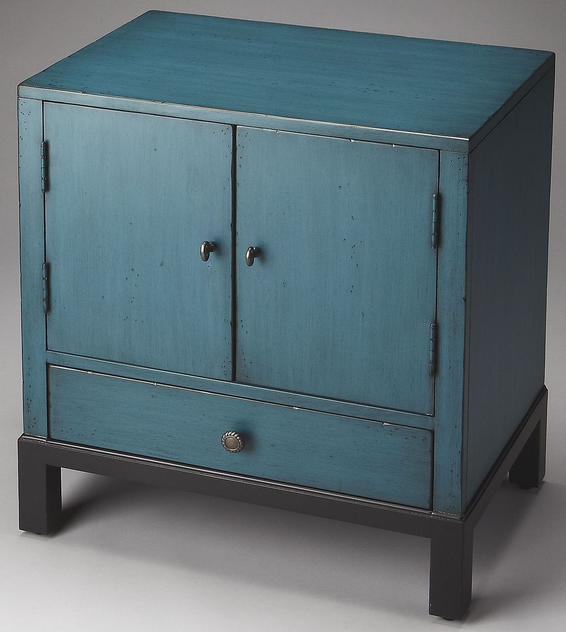 blue accent cabinet courtland artists originals distressed blue accent 12467