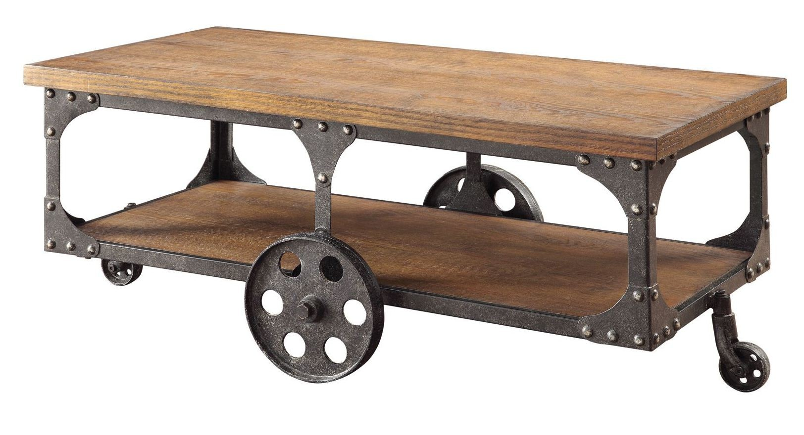 Norland rustic coffee table from coaster 701128 for Rustic coffee table