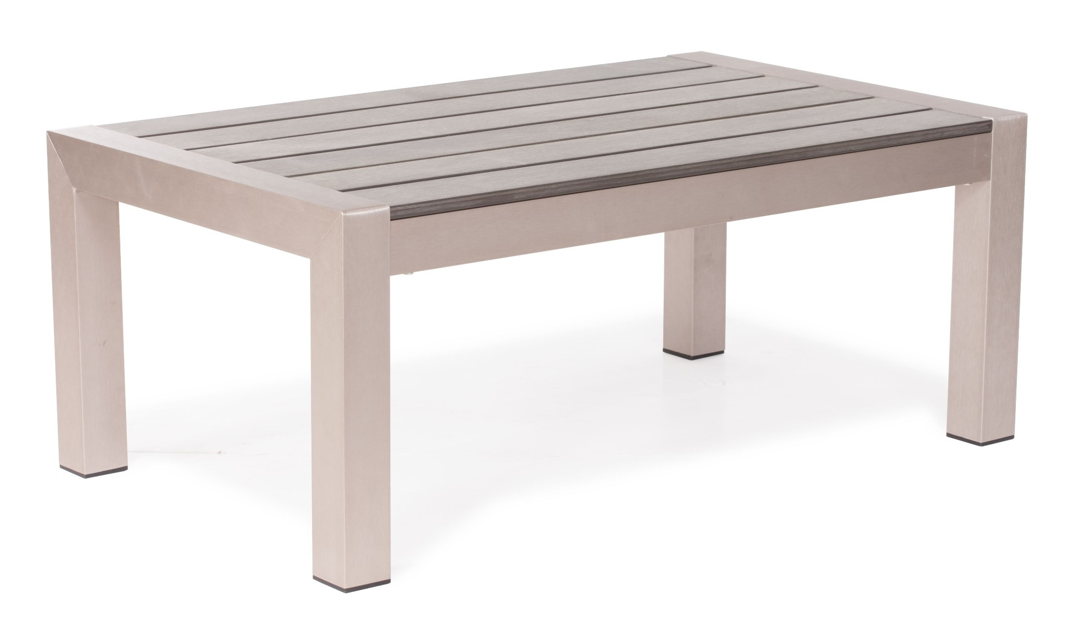Cosmopolitan Brushed Aluminum Coffee Table From Zuo Mod 701860 Coleman Furniture
