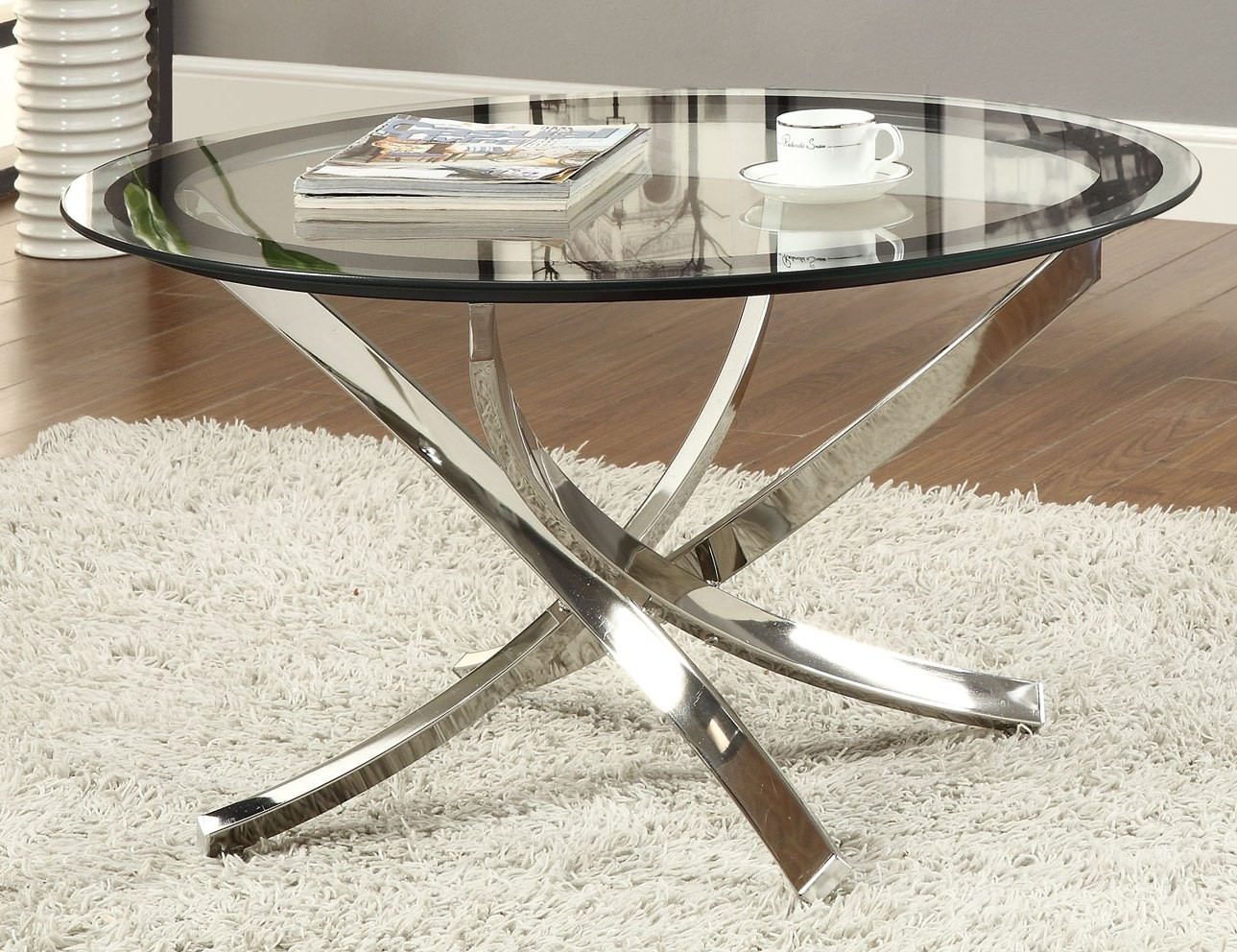 702588 Black Chrome Coffee Table From Coaster 702588 Coleman Furniture