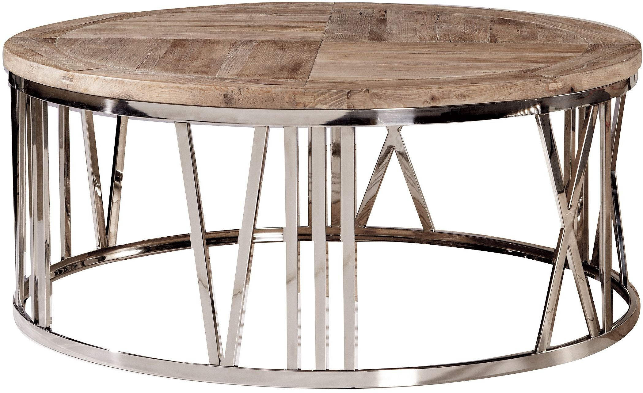 round stainless steel coffee table from furniture classics coleman furniture. Black Bedroom Furniture Sets. Home Design Ideas