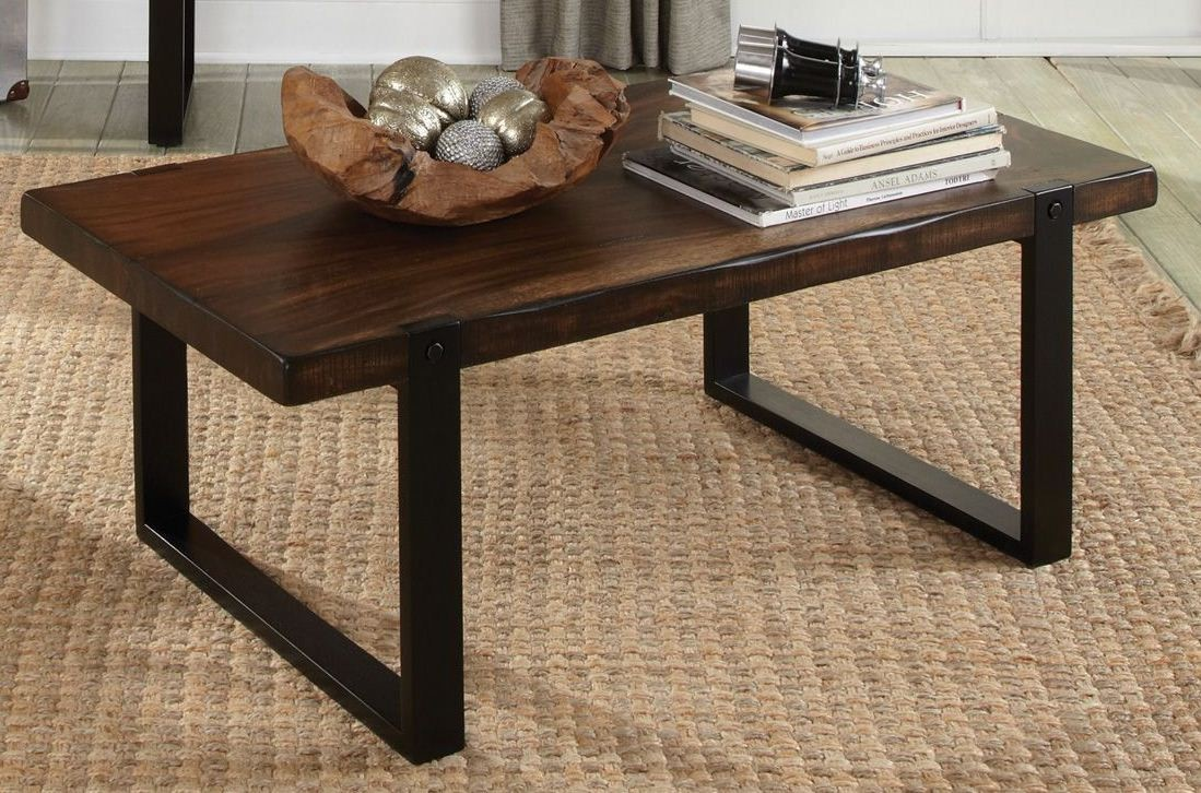 703428 Vintage Brown Black Coffee Table From Coaster 703428 Coleman Furniture