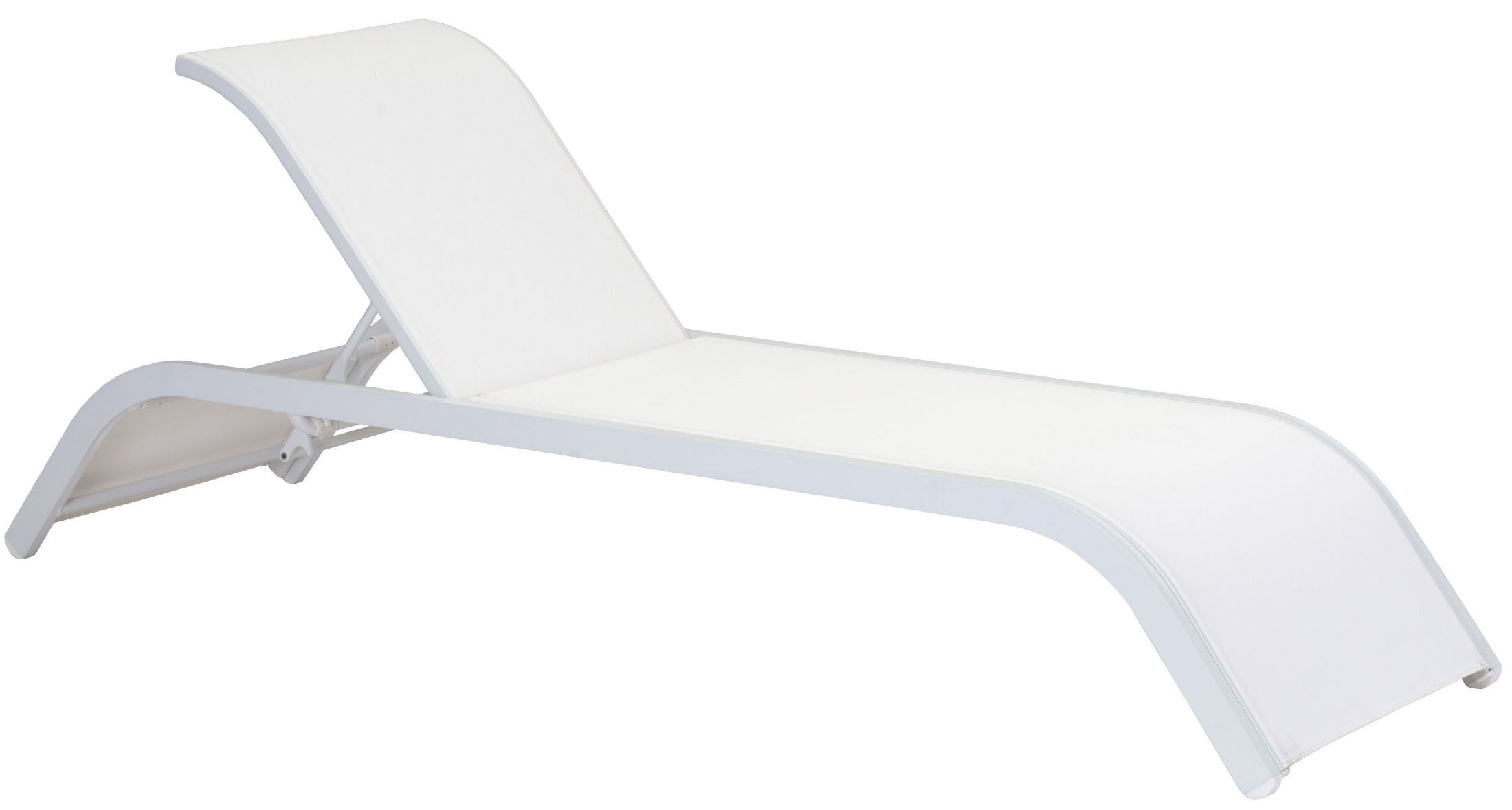 Sun beach white chaise lounge from zuo mod 703586 for Beach chaise lounger