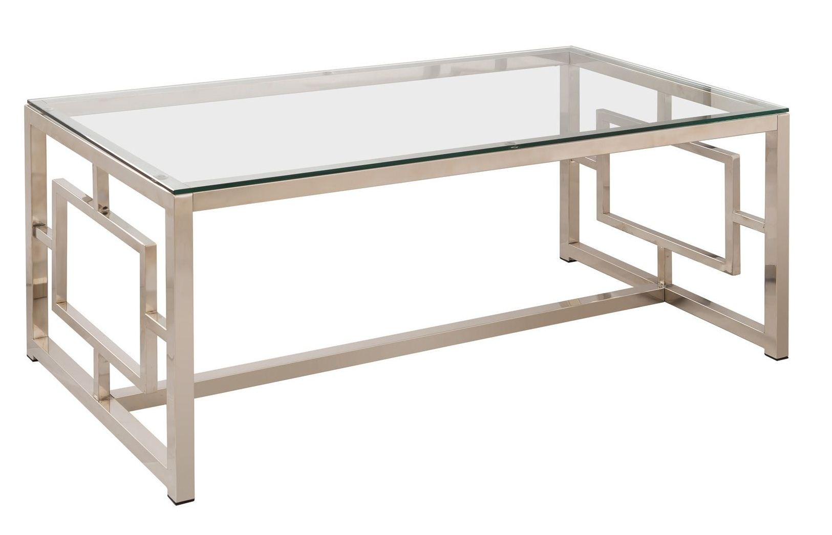 703738 satin nickel coffee table from coaster 703738 for K furniture coffee table