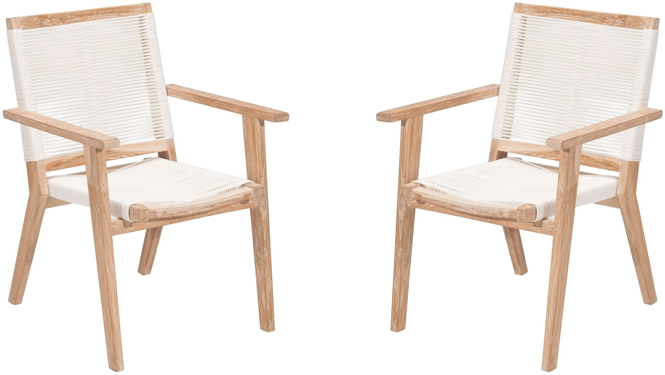 West Port White Wash And White Dining Chair Set Of 2 From Zuo Coleman Furni