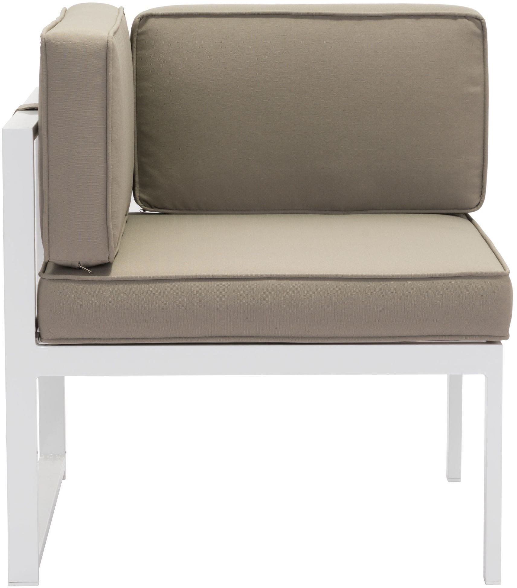 Golden Beach White and Taupe Sectional from Zuo