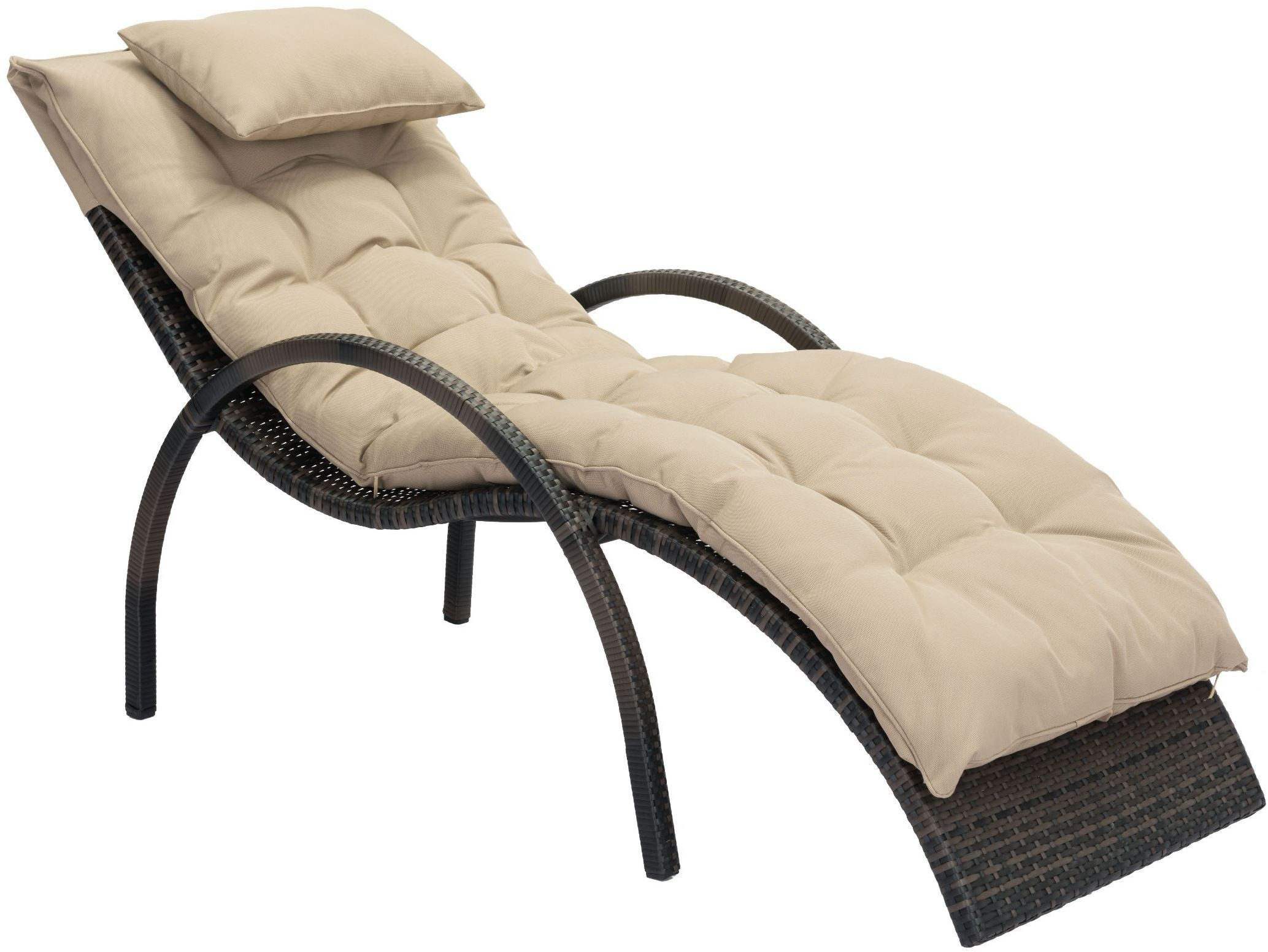 Eggertz beach brown and beige chaise lounge from zuo for 3 in 1 beach chaise lounge