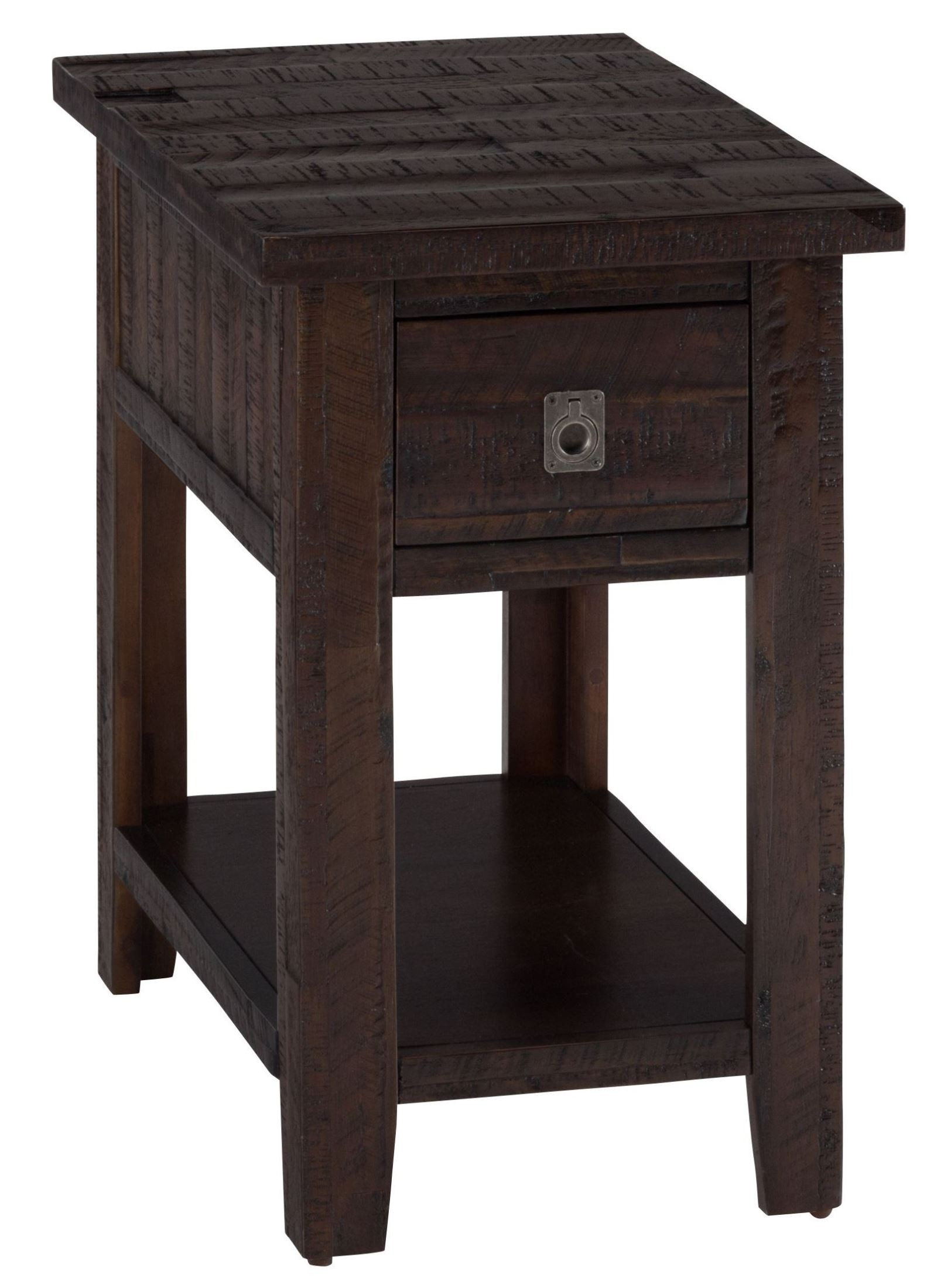 Kona gove rustic chocolate chairside table from jofran for Chairside table
