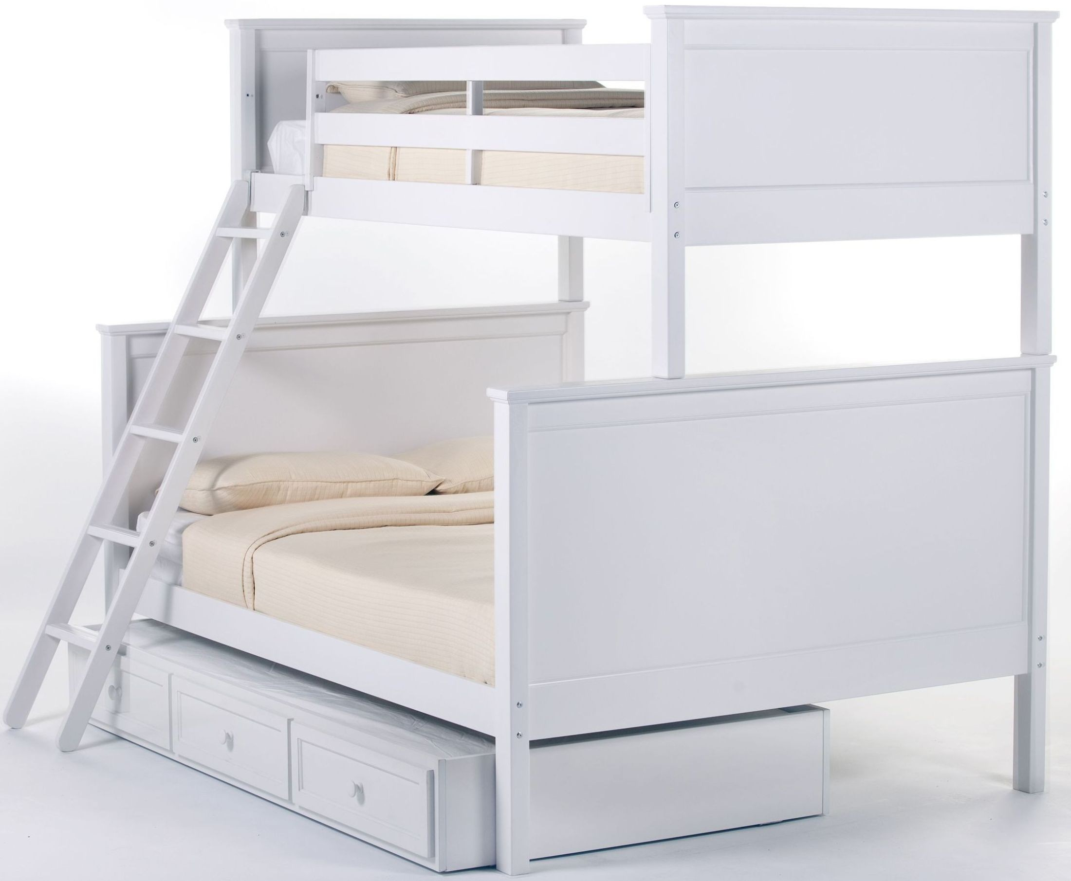 school house white twin over full bunk bed with trundle from ne kids coleman furniture. Black Bedroom Furniture Sets. Home Design Ideas