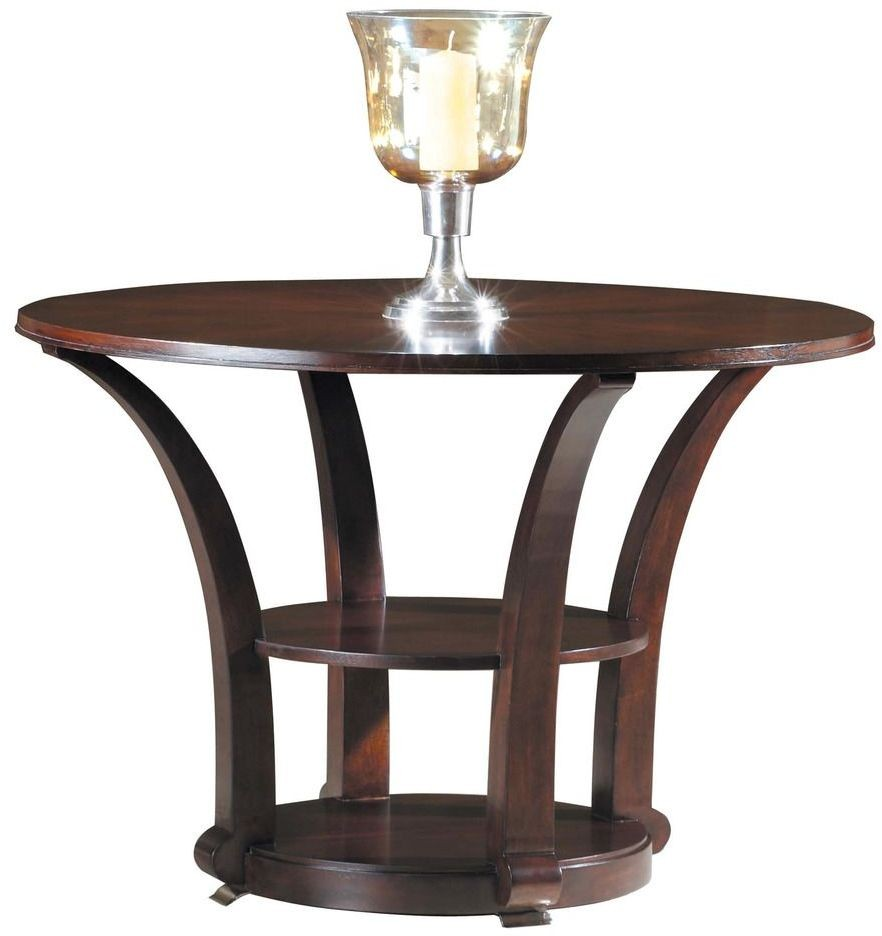 Metropolis brown 44 round dining table from hekman for 44 inch round dining table