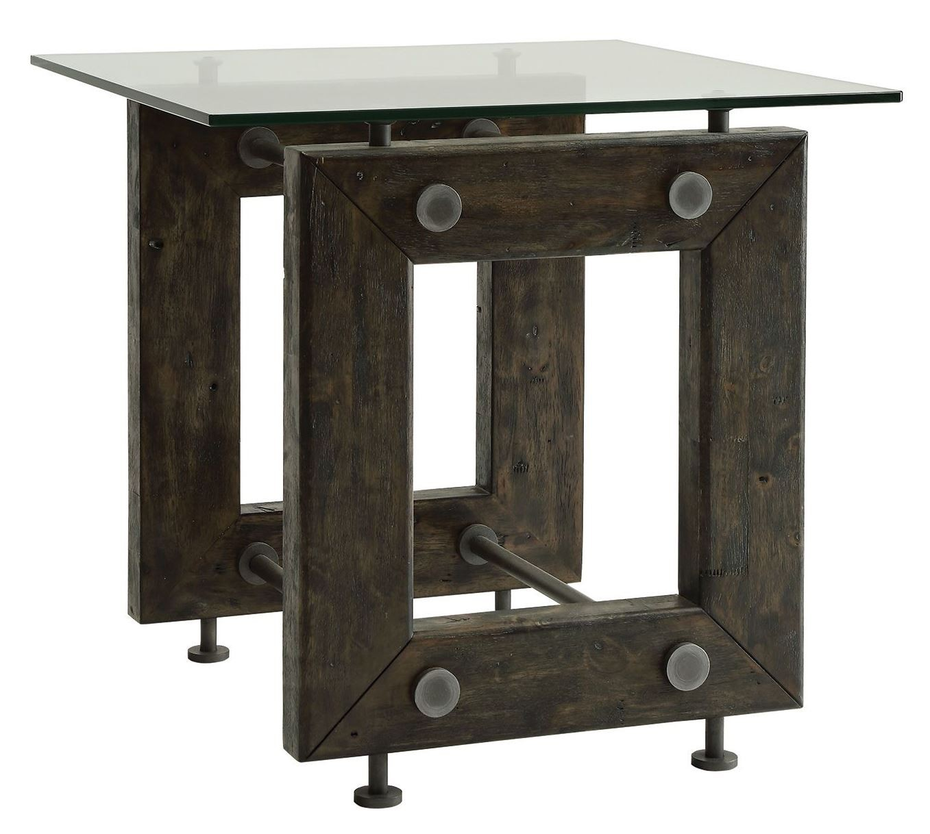Tempered Glass Top End Table From Coaster 704277 Coleman Furniture