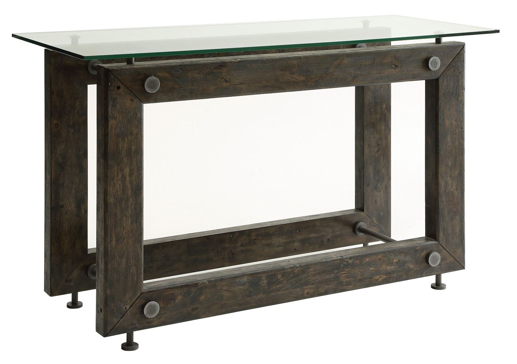 Tempered glass top sofa table from coaster 704279 for Sofa table glass