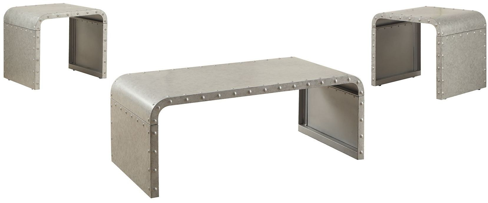 Galvanized Metal Coffee Table From Coaster