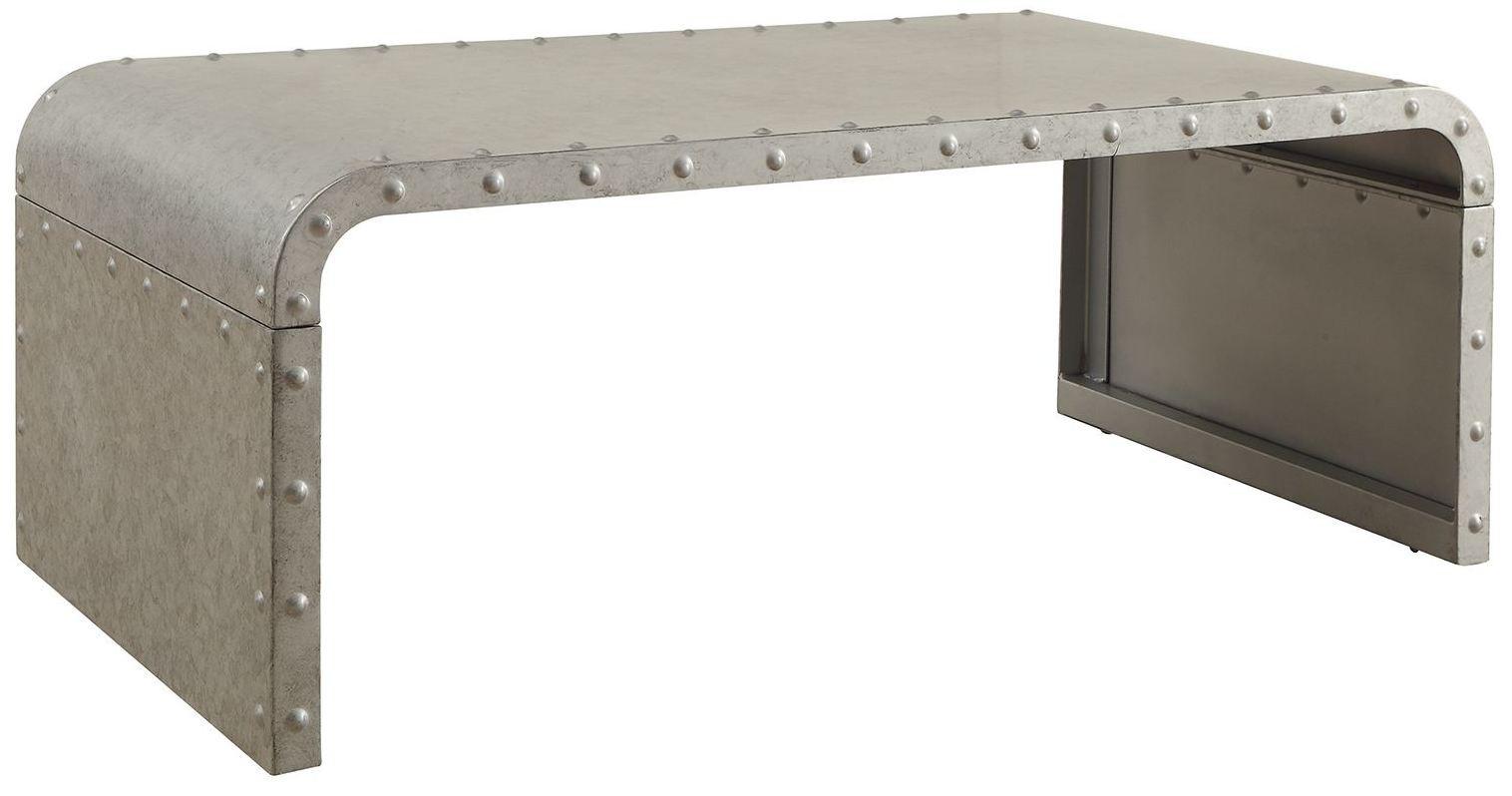 Galvanized Metal Coffee Table, 704348, Coaster Furniture