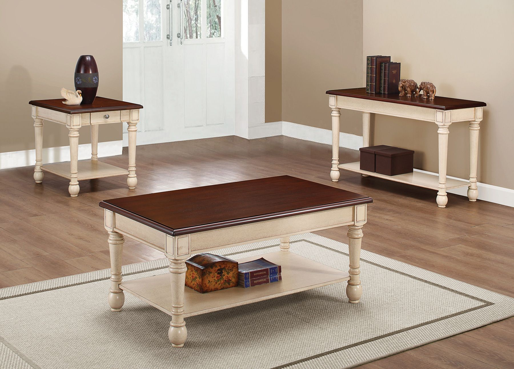704418 dark brown and white coffee table from coaster for White and brown coffee table