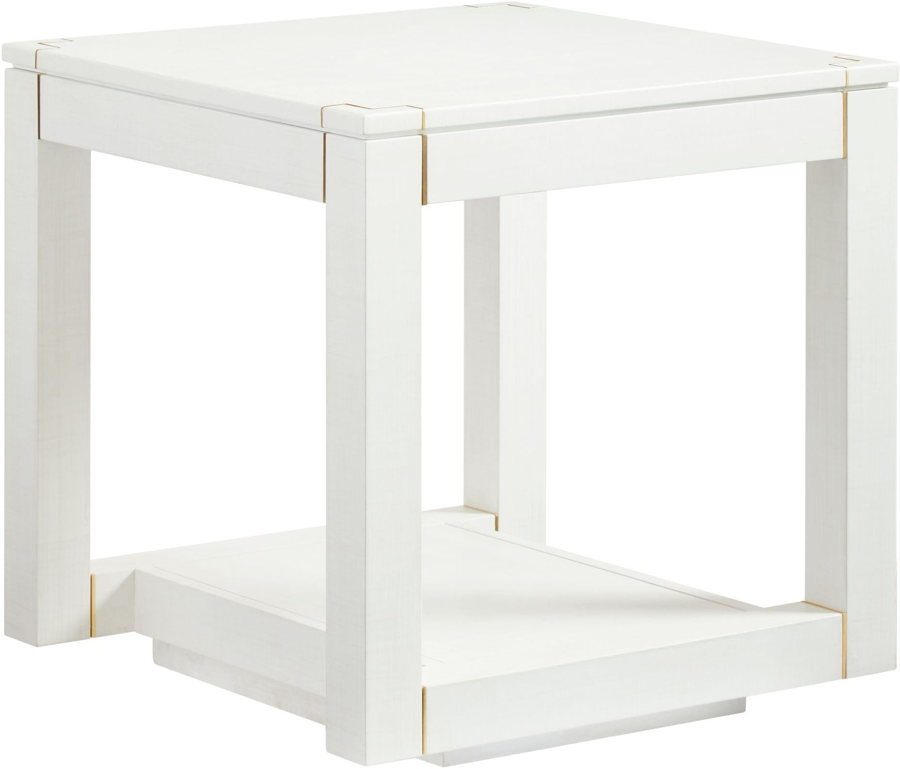 Panavista Alabaster Floating Parsons End Table From Stanley | Coleman  Furniture