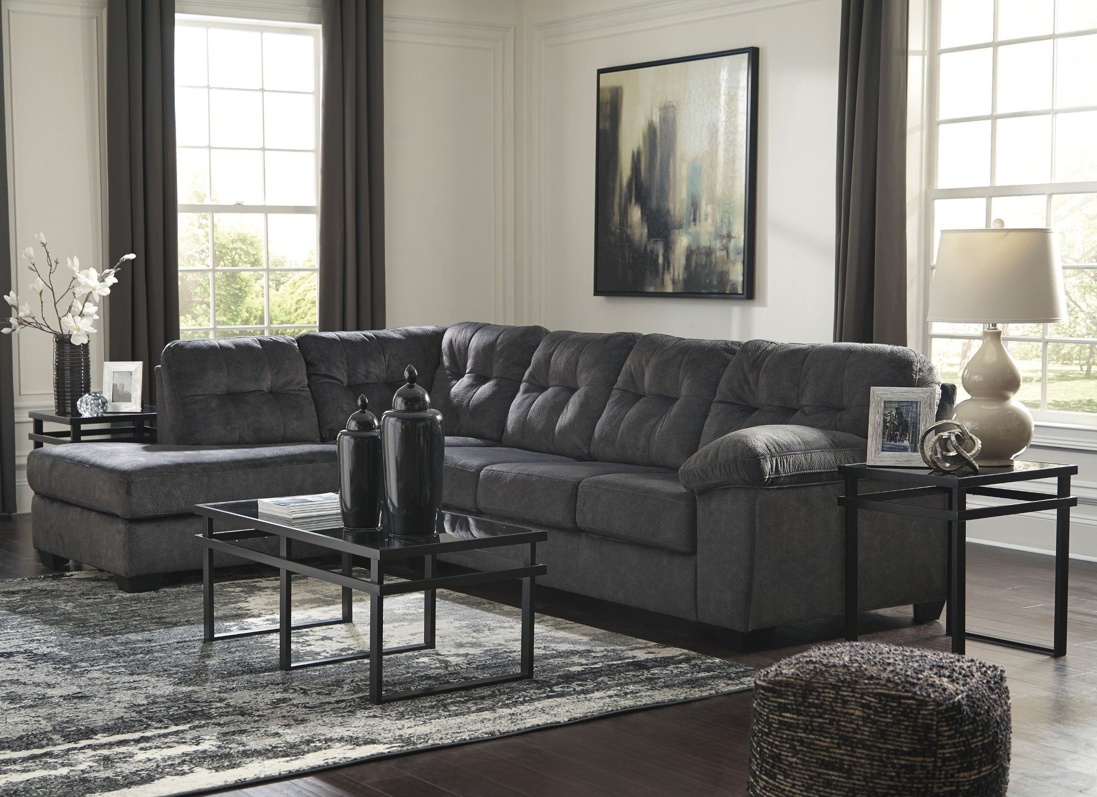 Accrington Granite Laf Sectional From Ashley Coleman