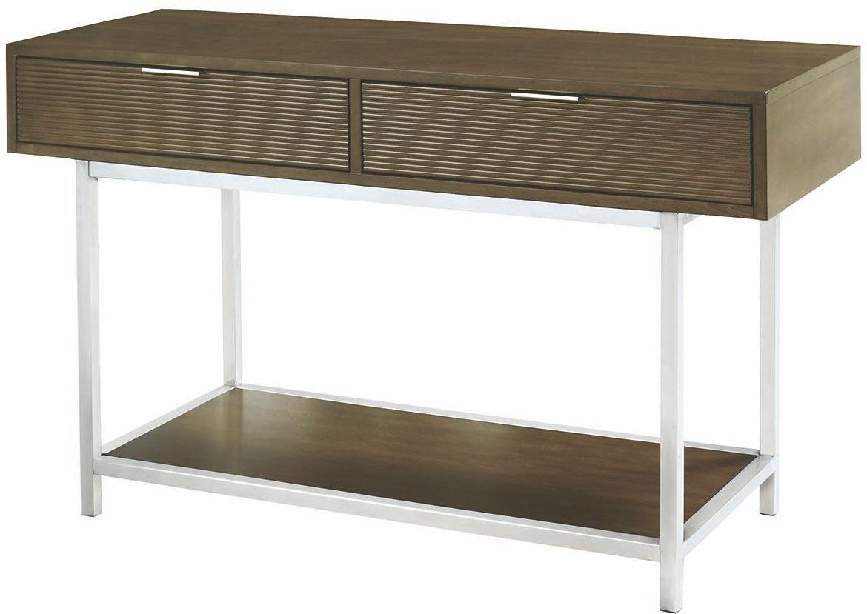Escher gray sofa table from coaster coleman furniture for Sofa table grey