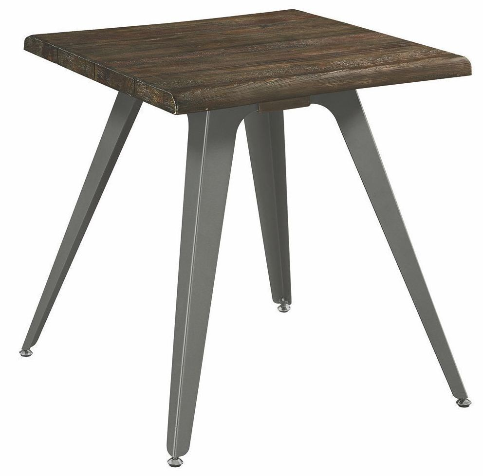 Dark rustic brown end table by scott living from coaster